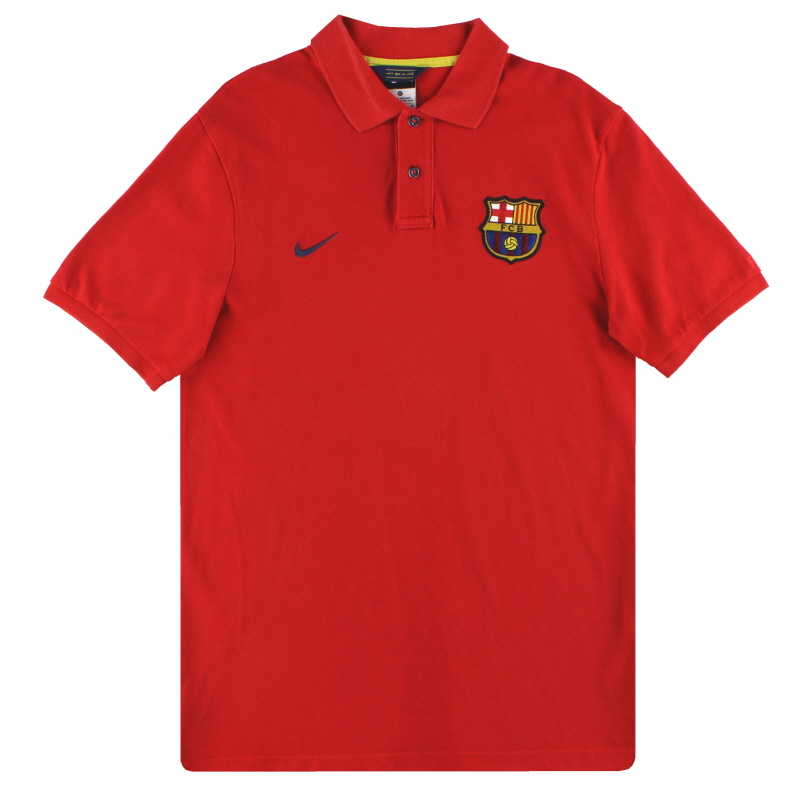 2013-14 Barcelona Nike Polo Shirt *Mint* M - 542384-657