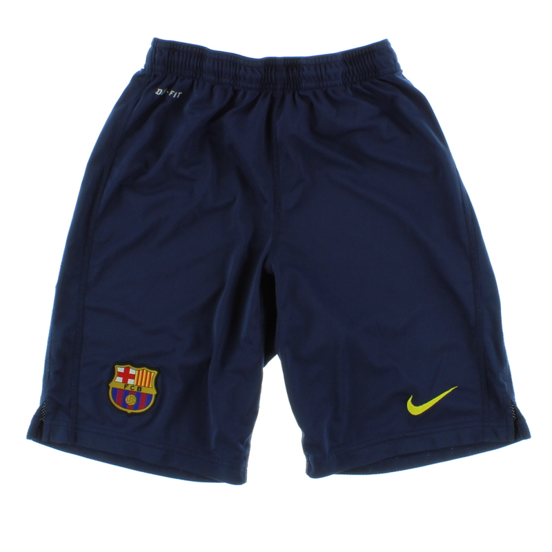 2013-14 Barcelona Nike Longer Knit Training Shorts *Mint* S - 544996-410