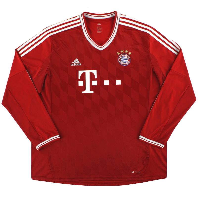 2013-14 Bayern Munich adidas Home Shirt L/S 3XL - G74157