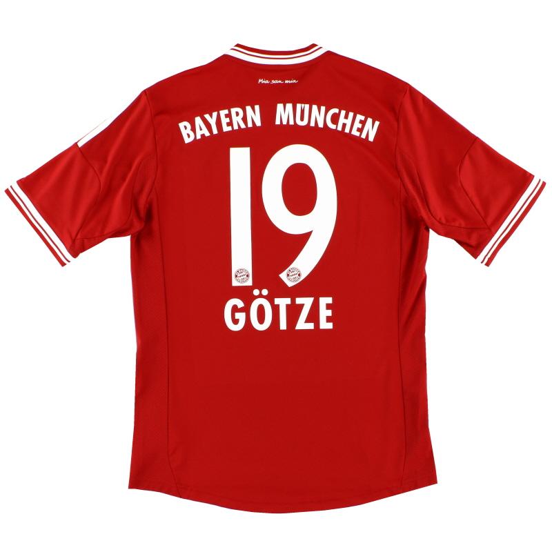 2013-14 Bayern Munich Home Shirt Gotze #19 L