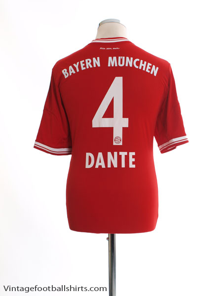 2013-14 Bayern Munich Home Shirt Dante #4 M