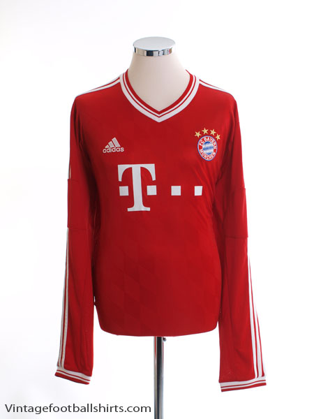 2013-14 Bayern Munich Home Shirt L/S XXL