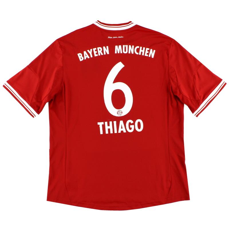 2013-14 Bayern Munich adidas Home Shirt Thiago #6 S - Z25029