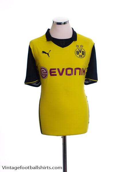 2013-14 Borussia Dortmund Champions League Home Shirt L