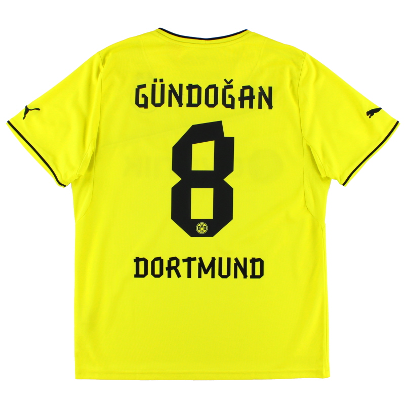 2013-14 Borussia Dortmund Winter Home Shirt Gundogan #8 L