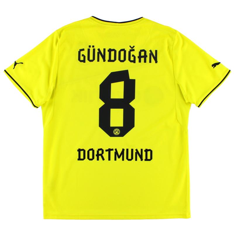2013-14 Borussia Dortmund Winter Home Shirt Gundogan #8 L