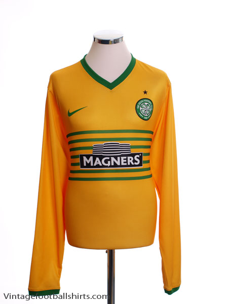 2013-14 Celtic Away Shirt L/S *Mint* M