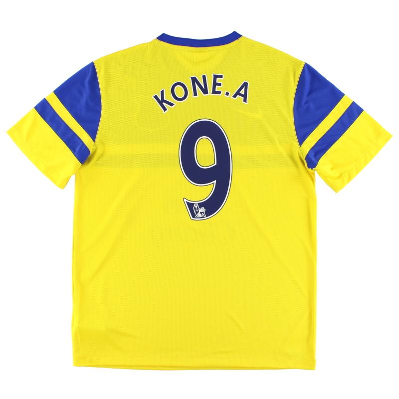 2013-14 Everton Away Shirt Kone.A #9 L