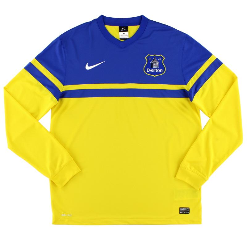 2013-14 Everton Away Shirt L/S L