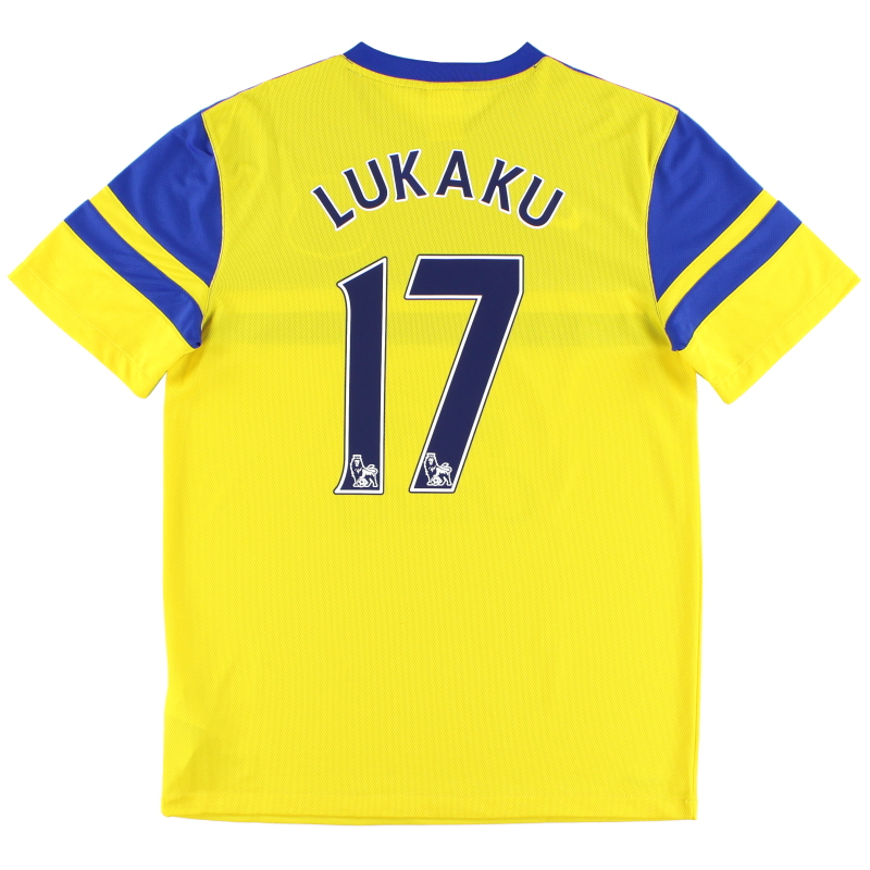 2013-14 Everton Away Shirt Lukaku #17 M