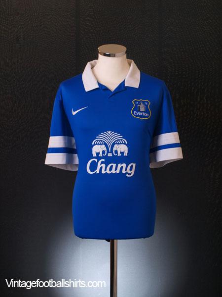 2013-14 Everton Home Shirt S