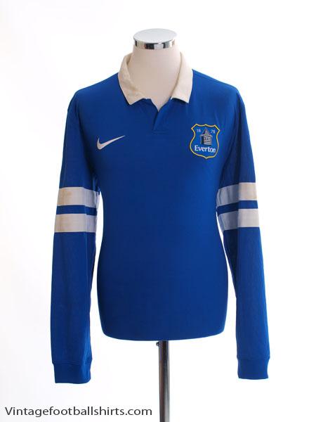 2013-14 Everton Home Shirt L/S L