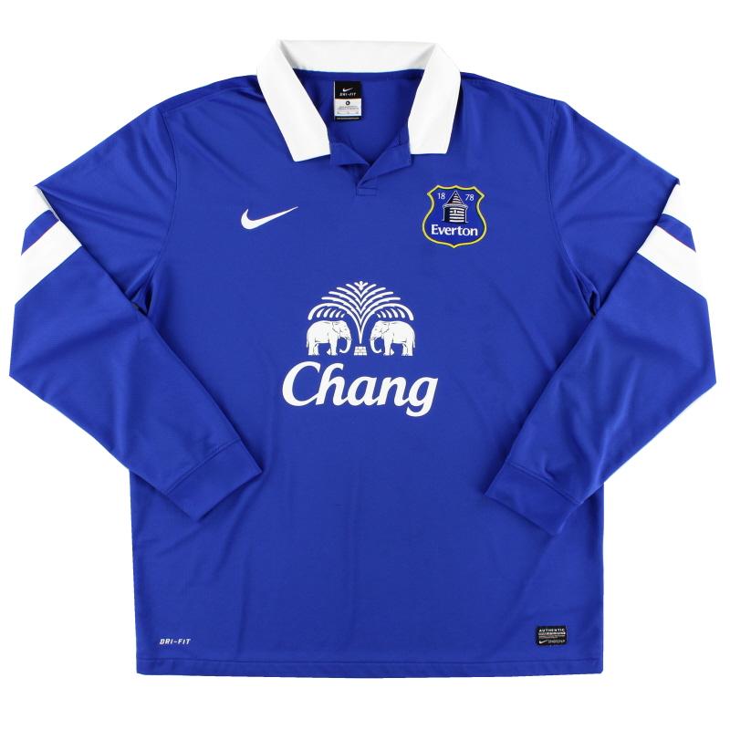 2013-14 Everton Home Shirt L/S XL - 544407-472