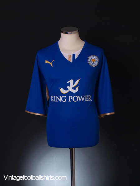 2013-14 Leicester Home Shirt *Mint* XXL