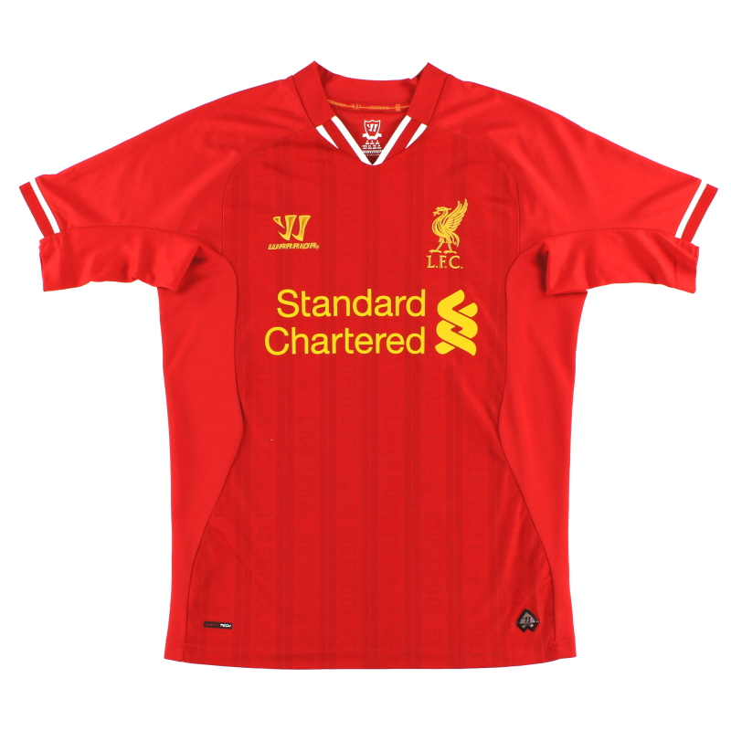 2013-14 Liverpool Warrior Home Shirt L