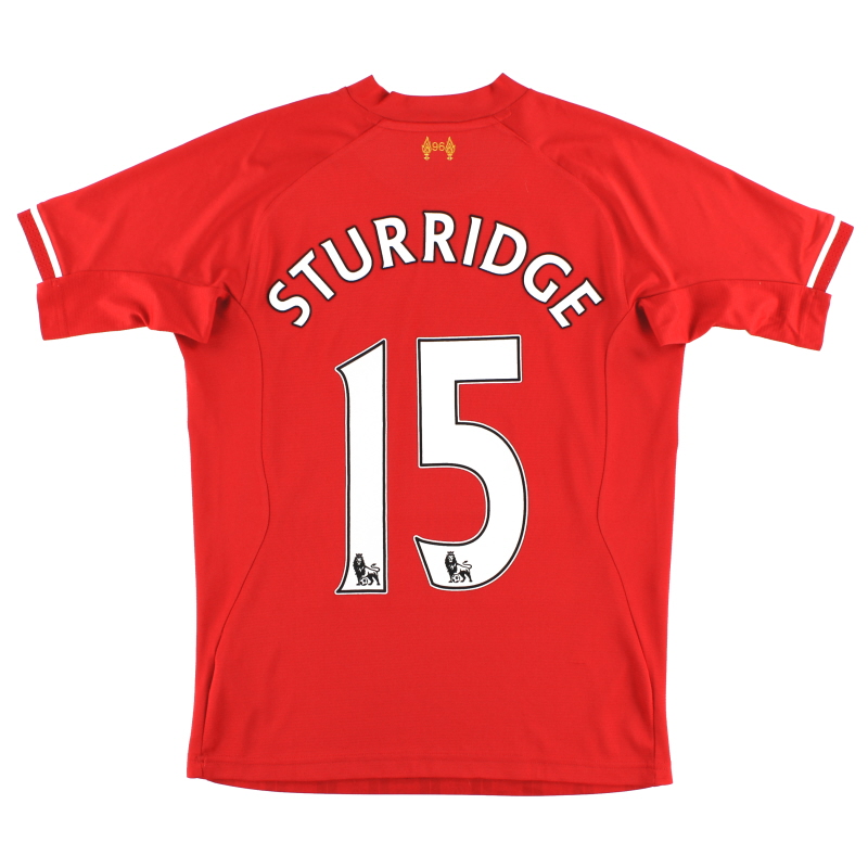 2013-14 Liverpool Home Shirt Sturridge #15 S