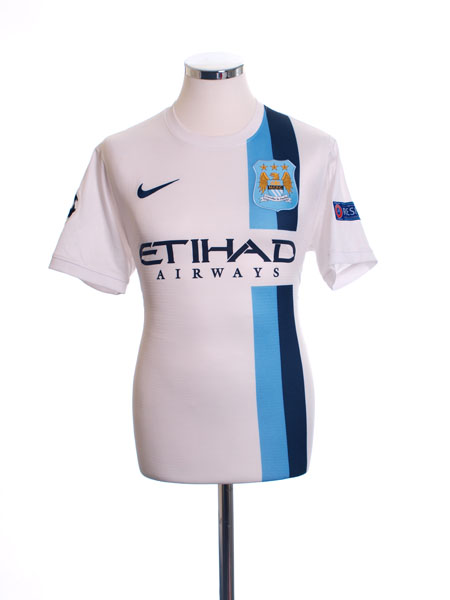 2013-14 Manchester City Authentic Champions League Third Shirt *Mint* M