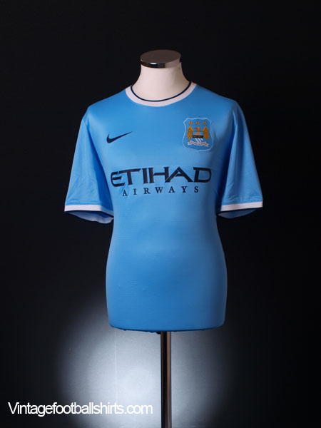 2013-14 Manchester City Home Shirt *Mint* M