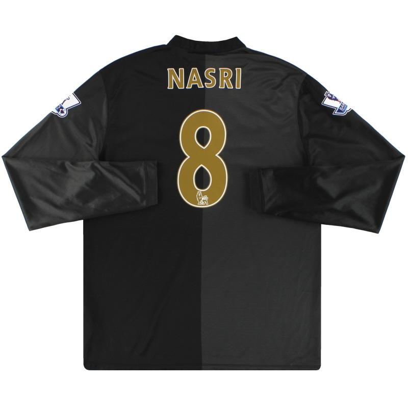 2013-14 Manchester City Nike Away Shirt Nasri #8 L/S L - 574873-011
