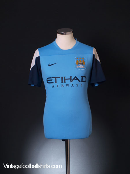 2013-14 Manchester City Player Issue Training Shirt M - 575292-489