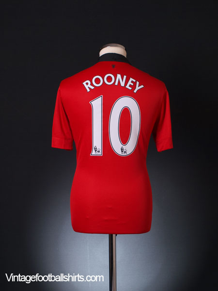 2013-14 Manchester United Home Shirt Rooney #10 M