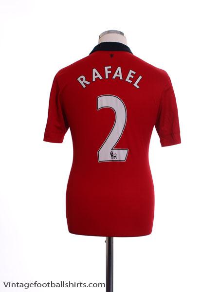 2013-14 Manchester United Home Shirt Rafael #2 S