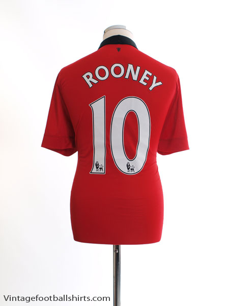 2013-14 Manchester United Home Shirt Rooney #10 L - 532837-624