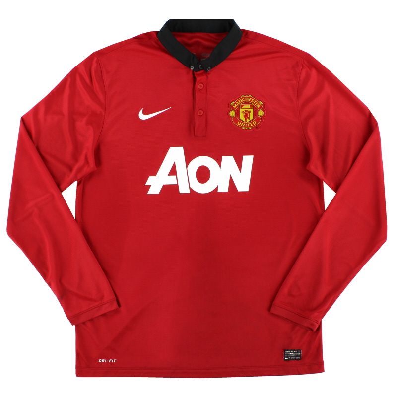 2013-14 Manchester United Home Shirt L/S L - 547929-624