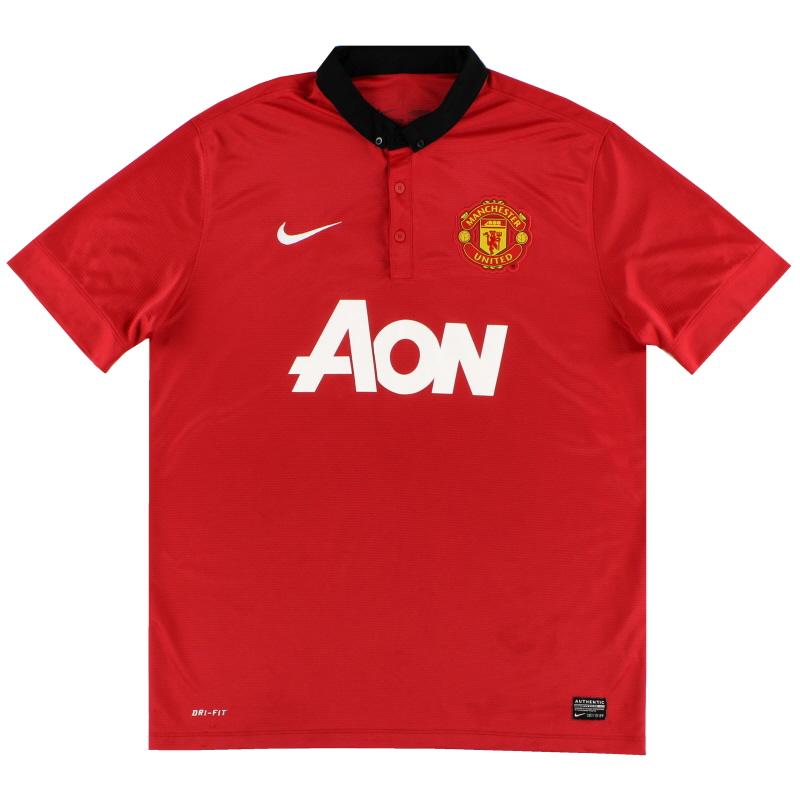 2013-14 Manchester United Nike Home Shirt L - 532837-624