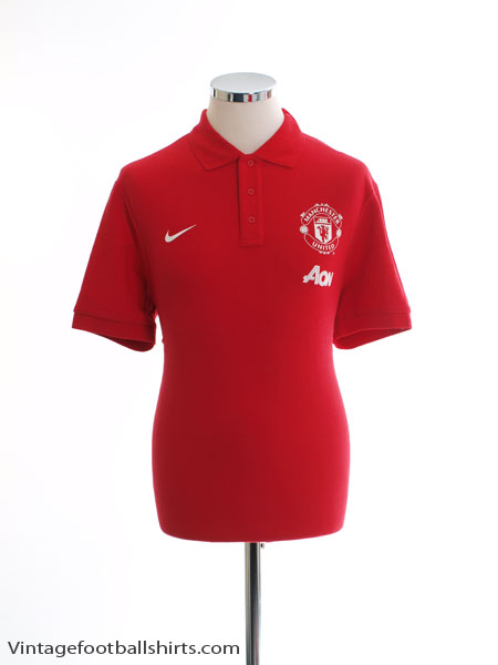 2013-14 Manchester United Polo Shirt *As New* L - 546984-625