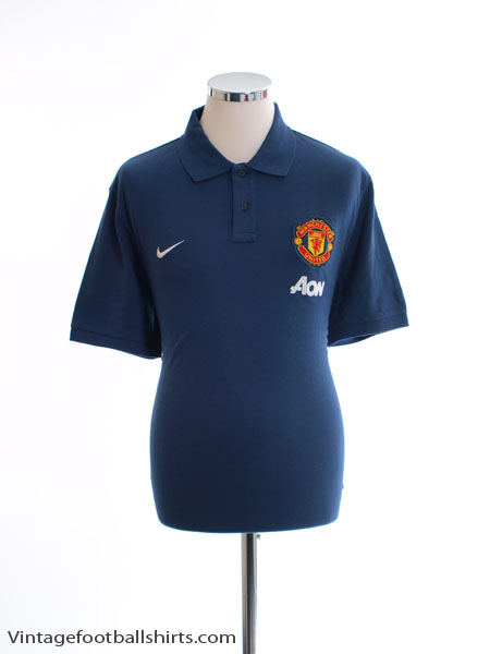 2013-14 Manchester United Nike Polo Shirt *As New* L - 542420-411