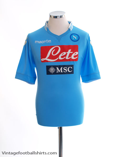 2013-14 Napoli Home Shirt M