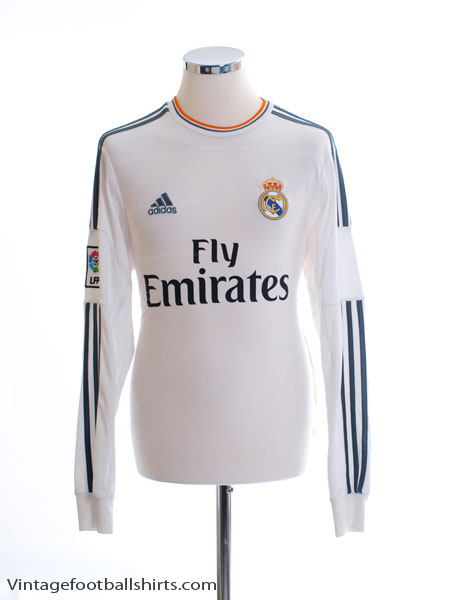 2013-14 Real Madrid Home Shirt L/S S