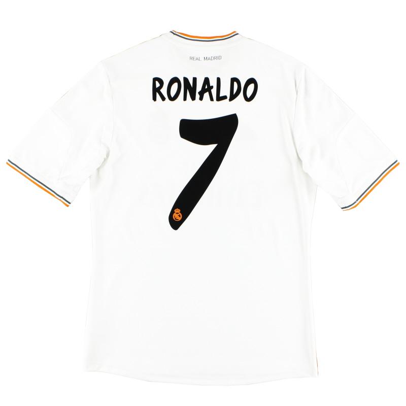2013-14 Real Madrid Home Shirt Ronaldo #7 *Mint* M - Z29356