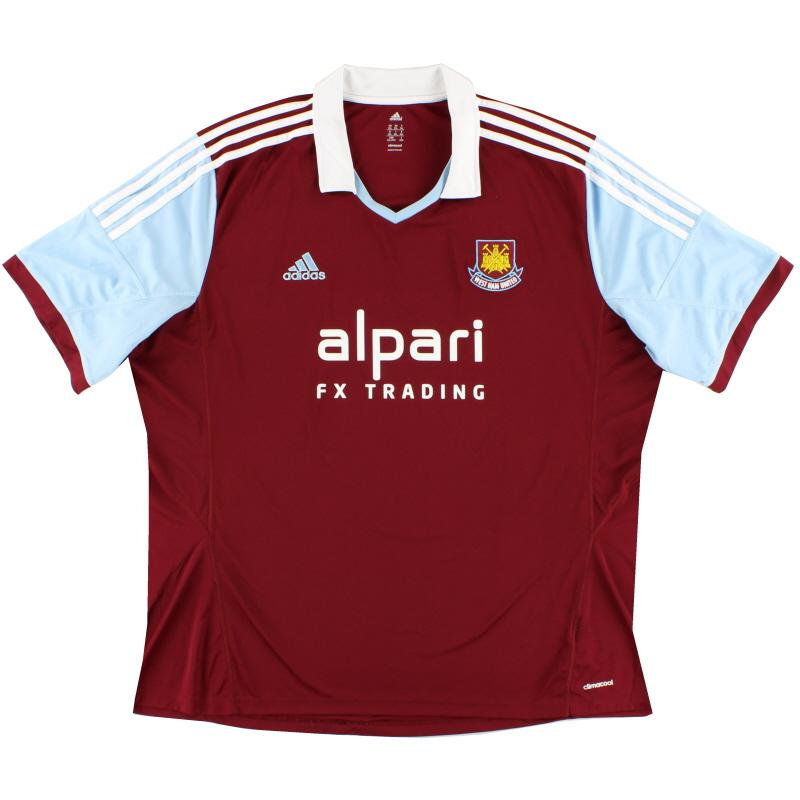 2013-14 West Ham Home Shirt XXXL