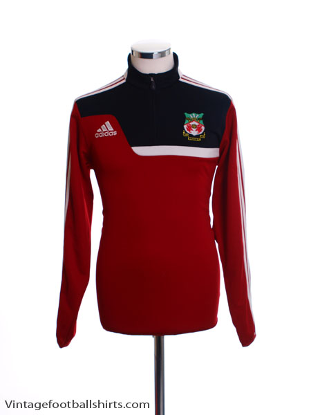 2013-14 Wrexham 1/2 Zip adidas Training Top S