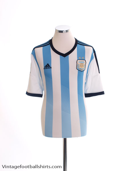 2013-15 Argentina Home Shirt *Mint* L