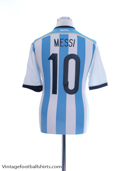 2013-15 Argentina Home Shirt Messi #10 *Mint* M - G74569