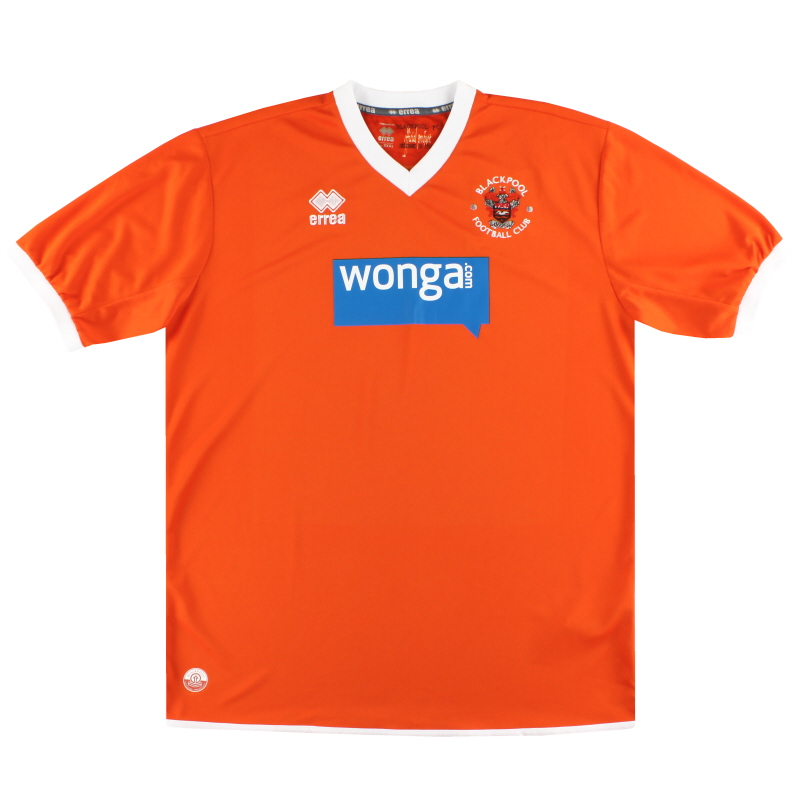 2013-15 Blackpool Errea Home Shirt XXXL