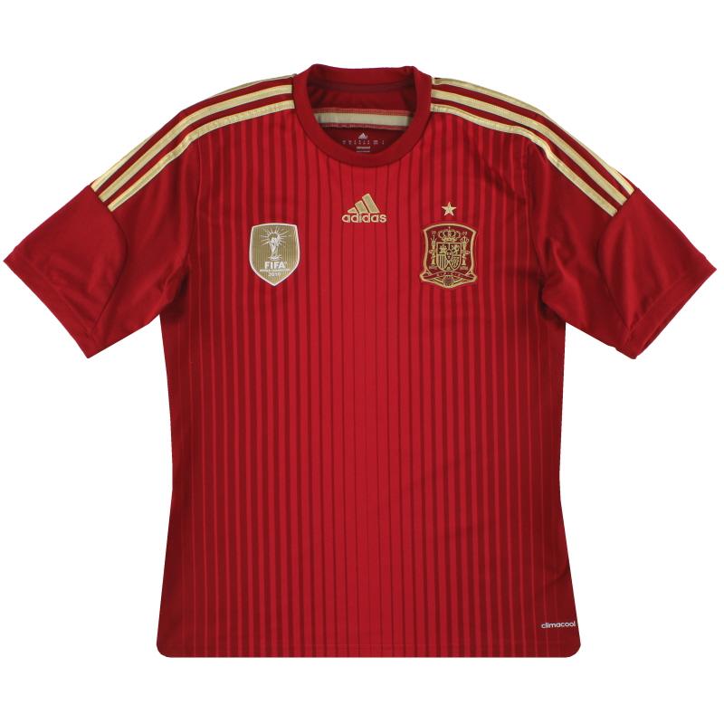 2013-15 Spain adidas Home Shirt *Mint* M - G85279