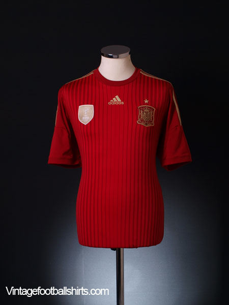 2013-15 Spain Home Shirt *Mint* M - G85279