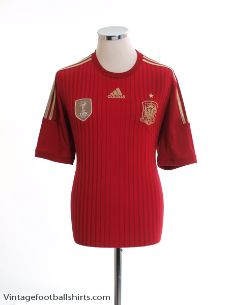 2013-15 Spain Home Shirt *Mint* M