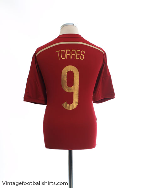 2013-15 Spain Home Shirt Torres #9 *Mint* L - G85279