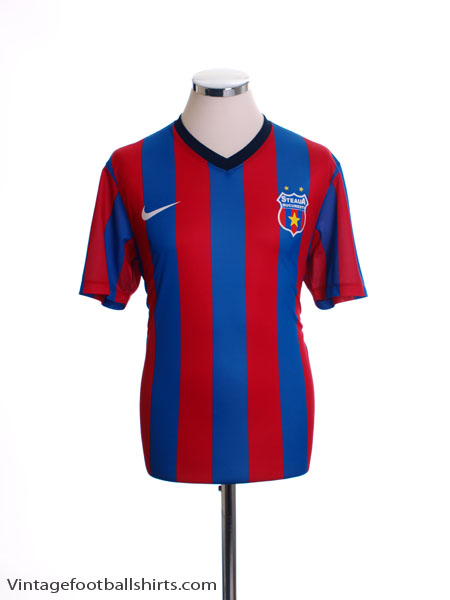 2013-15 Steaua Bucuresti Fan Version Home Shirt *Mint* M