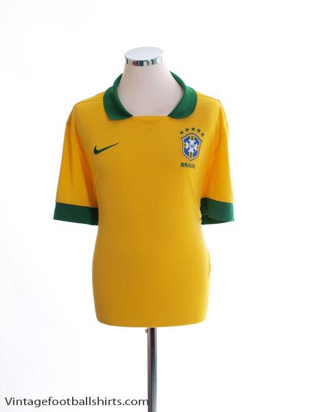 2013 Brazil Home Shirt XXL