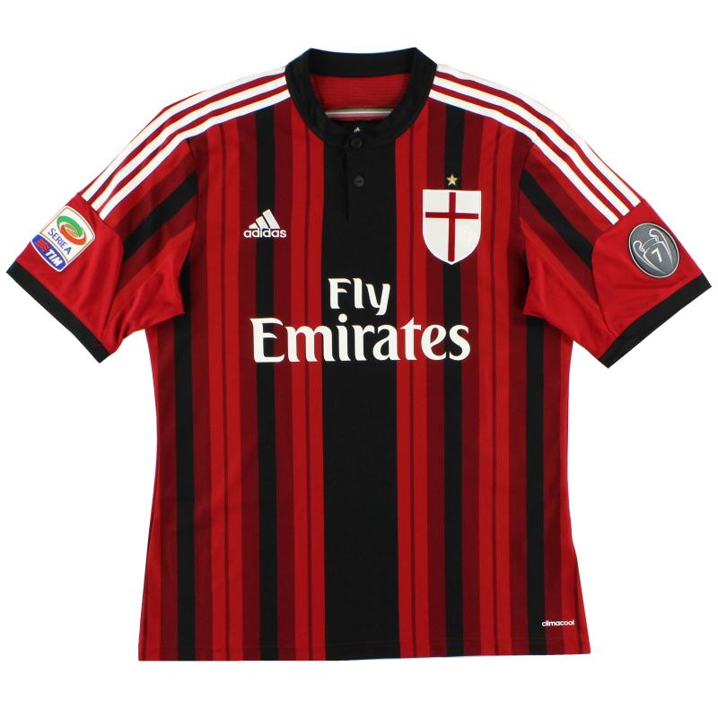 2014-15 AC Milan Home Shirt S