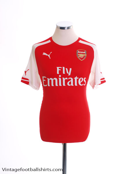 2014-15 Arsenal Home Shirt *Mint* L - 746446
