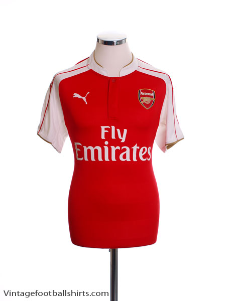 2014-15 Arsenal Home Shirt *As New* M