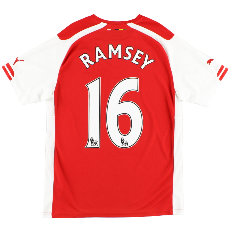 2014-15 Arsenal Home Shirt Ramsey #16 M
