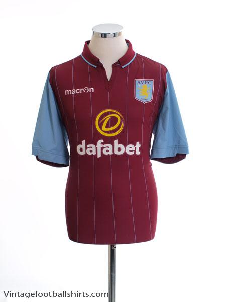 2014-15 Aston Villa Home Shirt L